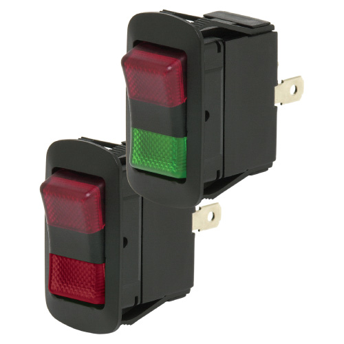 LED Rocker Switch SPDT On/On Dependent - Cole Hersee