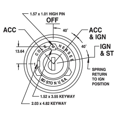 anti-restart ignition switch 3 position