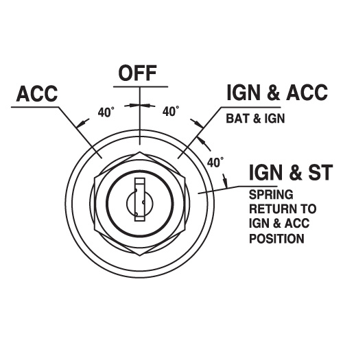 marine switch 4 position ignition